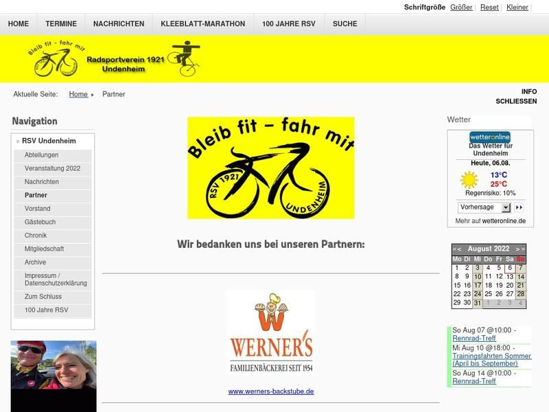 Screenshot von http://rsv-undenheim.de/index.php/home/partner